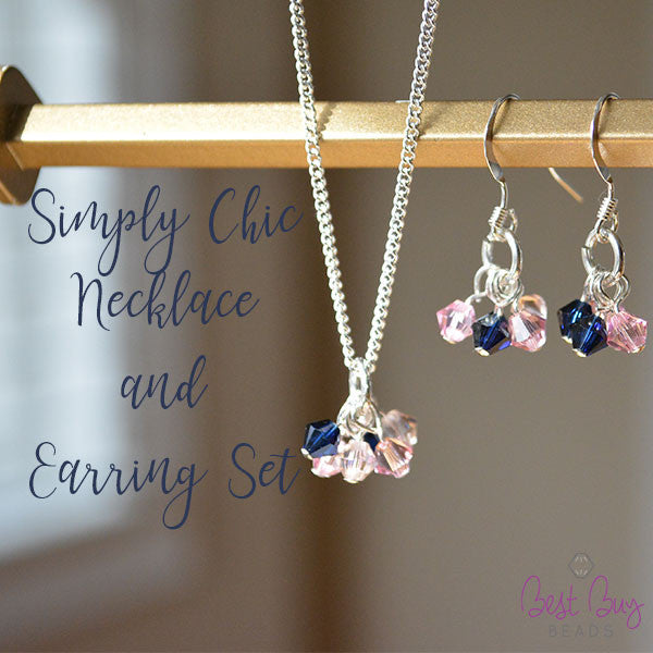 Simply Chic Necklace And Earring Set- Silver
