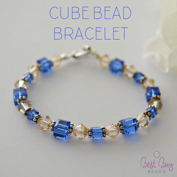 bracelet design ideas view all cube bead bracelet - Jewelry Design Ideas