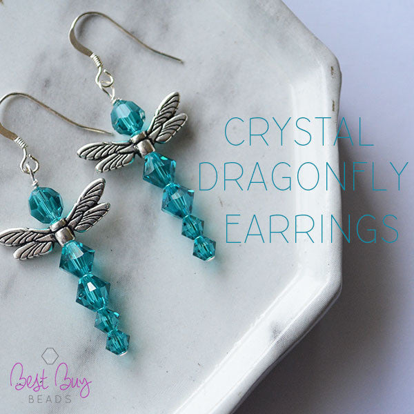 Crystal Dragonfly Earrings