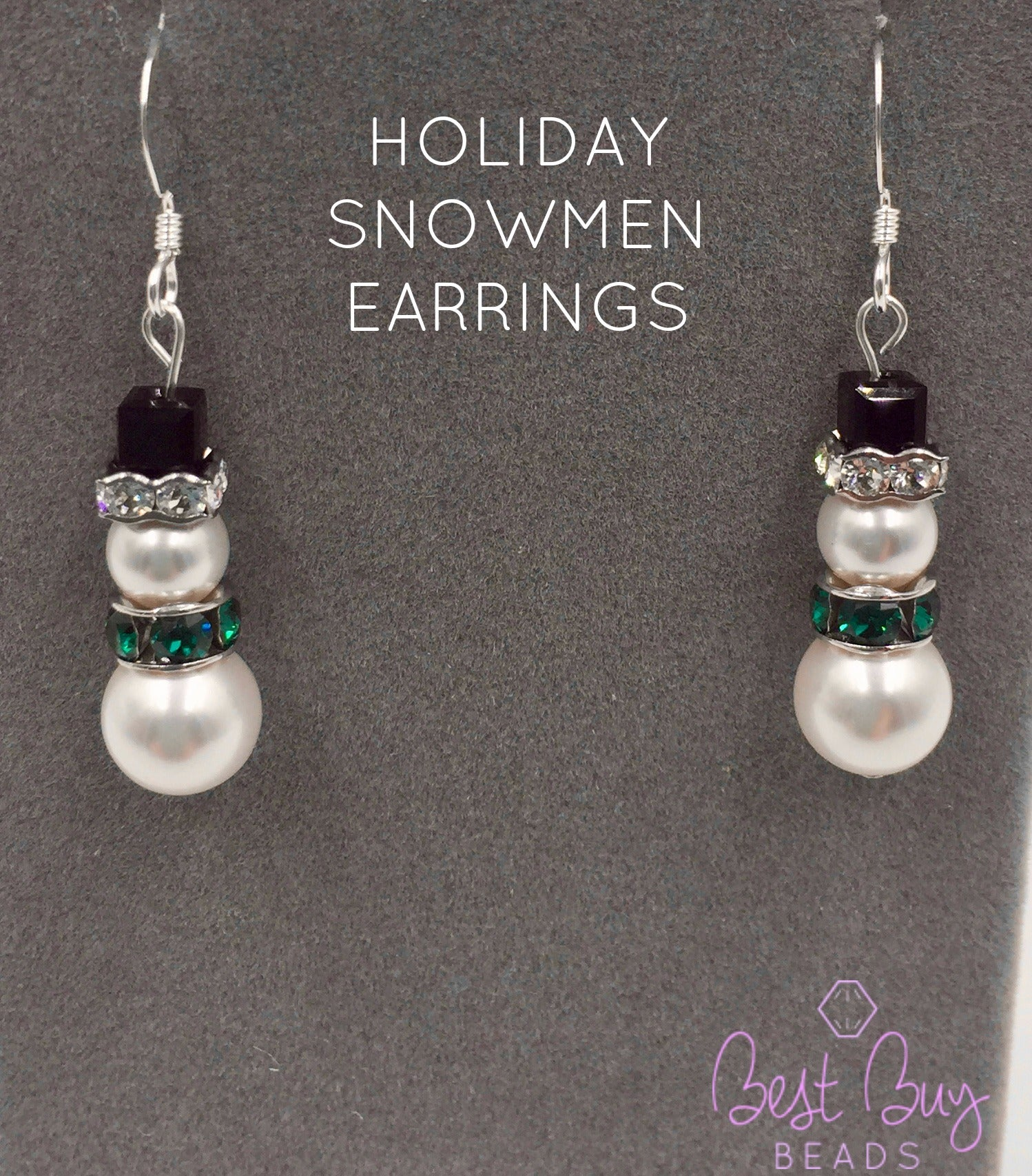 holiday gift gift idea fun Christmas earrings EBX13-38: Sleigh bells holiday coworker gift December stainless steel ear wire