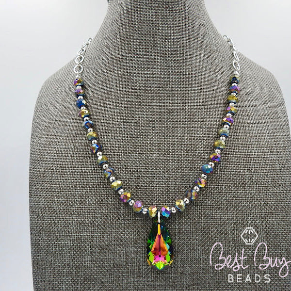 Sterling Silver 33 Multi Strand Faceted and Smooth Choice of Gemstone Bead Necklace