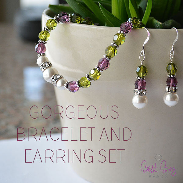 Gorgeous Bracelet and Earring Set
