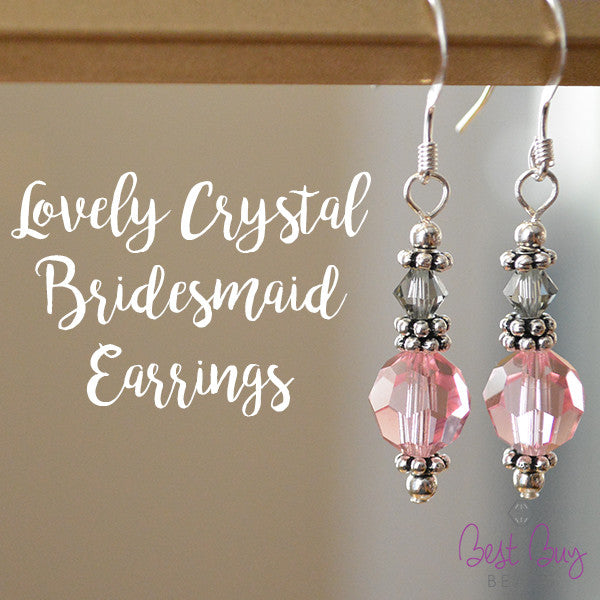 Lovely Crystal Bridesmaid Earrings