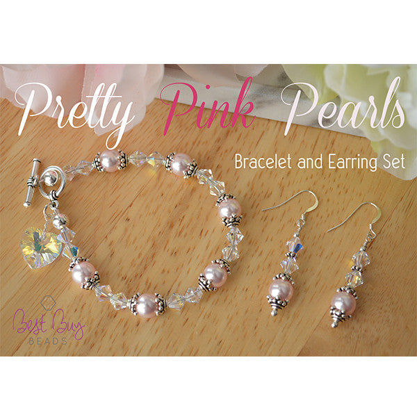 Pretty Pink Pearls Bracelet and Earring Set