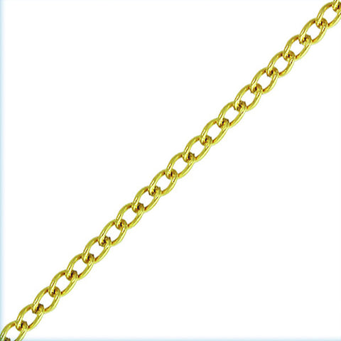 0809-fin-chain-001 14k Gold Filled Finished 18 inch 1.5mm Curb Chain (Package of 1 chain)