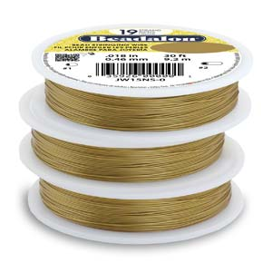 0601-19x30-blon Beadalon Bead Stringing Wire (Satin Gold) - 19 strand - 30 ft. (1 roll per package)