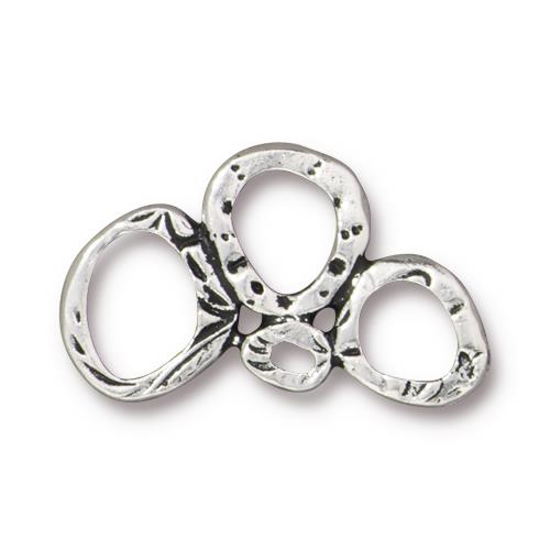 0803-Link3ring-Sp Silver Plated Intermix 3 Ring Link (Package Of 1 Link)