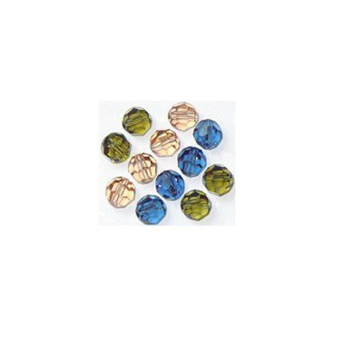 5000-6-mix-autm Swarovski Crystal 6mm Round Bead Mix (01) - Autumn Warmth (Package of 12 Beads)