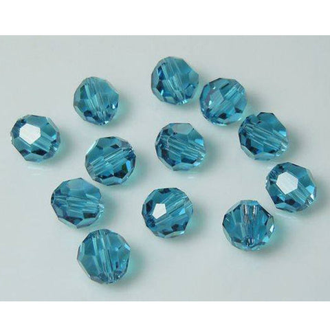 5000-6-in Swarovski Crystal 6mm Round Indicolite Beads (Package of 12 Beads)