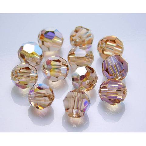 5000-6-lct-ab Swarovski Crystal 6mm Round Light Colorado Topaz AB Beads (Package of 12 Beads)