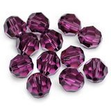 5000-4-am Swarovski Crystal 4mm Round Amethyst Beads (Package of 24 Beads)