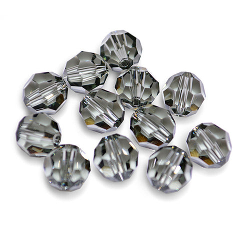 5000-6-bd Swarovski Crystal 6mm Round Black Diamond Beads (Package of 12 Beads)