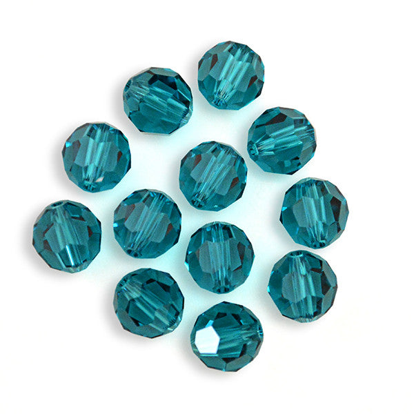 5000-6-bz Swarovski Crystal 6mm Round Blue Zircon Beads (Package of 12 Beads)