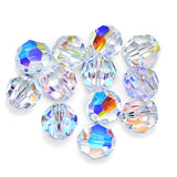 5000-10-cr-ab Swarovski Crystal 10mm Round Crystal AB Beads (Package of 6 Beads)