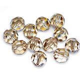 5000-8-cr-gs Swarovski Crystal 8mm Round Crystal Golden Shadow Beads (Package of 12 Beads)
