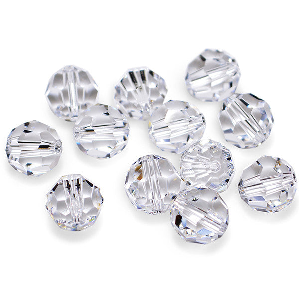 5000-8-cr Swarovski Crystal 8mm Round Crystal Beads (Package of 12 Beads)