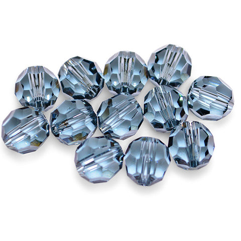 5000-6-sai Swarovski Crystal 6mm Round Indian Sapphire Beads (Package of 12 Beads)