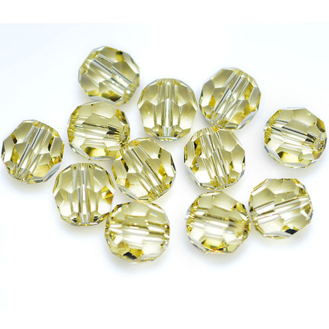 5000-6-jo Swarovski Crystal 6mm Round Jonquil Beads (Package of 12 Beads)