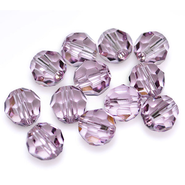 5000-6-aml Swarovski Crystal 6mm Round Light Amethyst Beads (Package of 12 Beads)