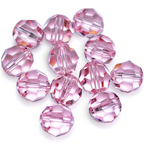 5000-8-rol Swarovski Crystal 8mm Round Light Rose Beads (Package of 12 Beads)