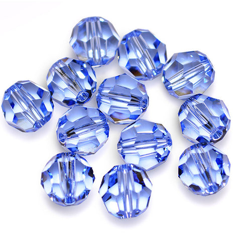 5000-4-sal Swarovski Crystal 4mm Round Light Sapphire Beads (Package of 24 Beads)
