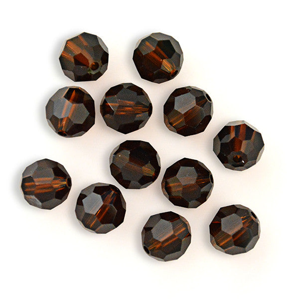 5000-8-mc Swarovski Crystal 8mm Round Mocca Beads (Package of 12 Beads)