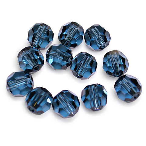 5000-6-mo Swarovski Crystal 6mm Round Montana Beads (Package of 12 Beads)