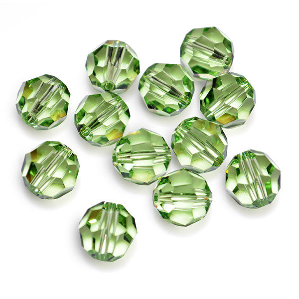 5000-4-pe Swarovski Crystal 4mm Round Peridot Beads (Package of 24 Beads)