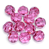 5000-8-ro Swarovski Crystal 8mm Round Rose Beads (Package of 12 Beads)