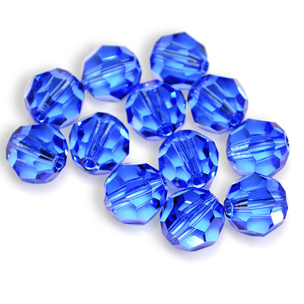 5000-8-sa Swarovski Crystal 8mm Round Sapphire Beads (Package of 12 Beads)