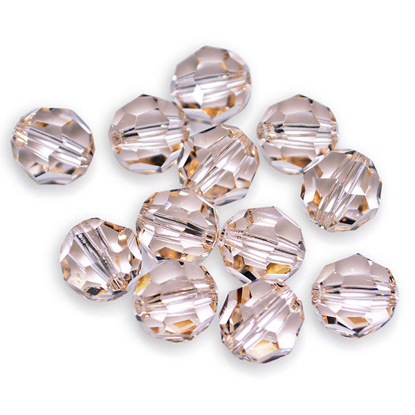 5000-6-slk Swarovski Crystal 6mm Round Silk Beads (Package of 12 Beads)