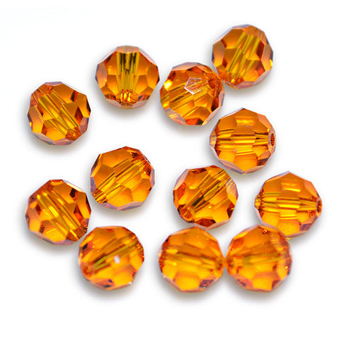 5000-6-ta Swarovski Crystal 6mm Round Tangerine Beads (Package of 12 Beads)