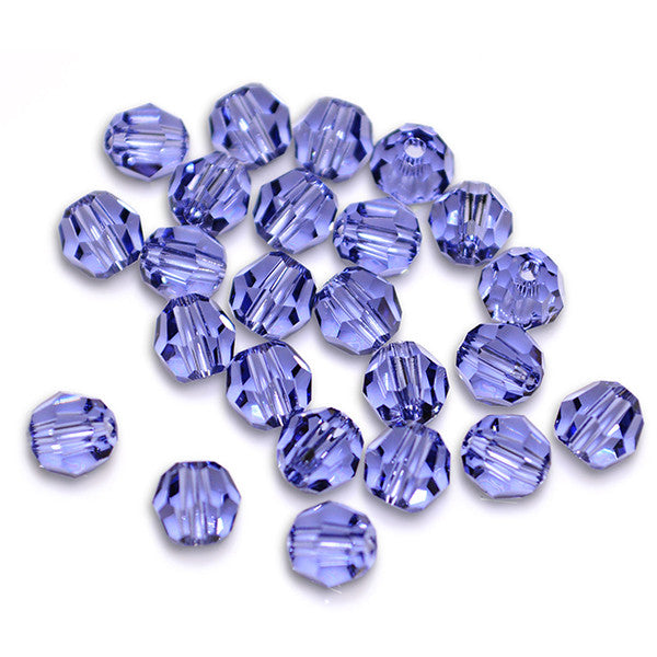 5000-6-ta Swarovski Crystal 6mm Round Tanzanite Beads (Package of 12 Beads)