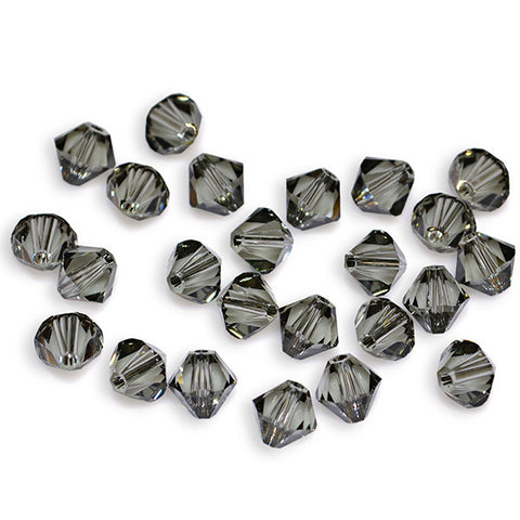 5301 / 5328-4-bd Swarovski Crystal 4mm Bicone Black Diamond Beads (Package of 48 Beads)
