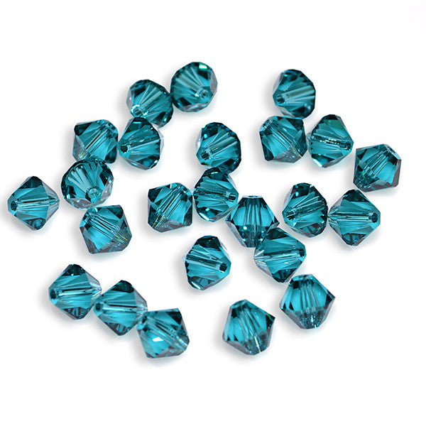 5301 / 5328-4-bz Swarovski Crystal 4mm Bicone Blue Zircon Beads (Package of 48 Beads)