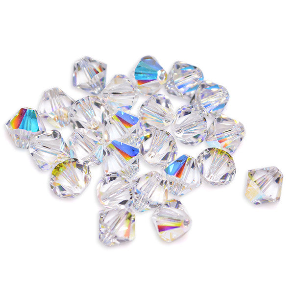 5301 / 5328-4-cr-ab Swarovski Crystal 4mm Bicone Crystal AB Beads (Package of 48 Beads)