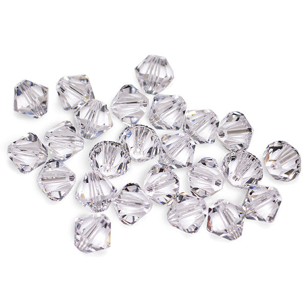 5301 / 5328-4-cr Swarovski Crystal 4mm Bicone Crystal Beads (Package of 48 Beads)