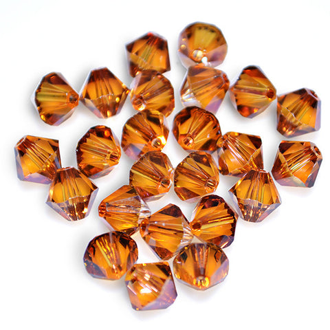 5301 / 5328-6-cr-cop Swarovski Crystal 6mm Bicone Crystal Copper Beads (Package of 24 Beads)