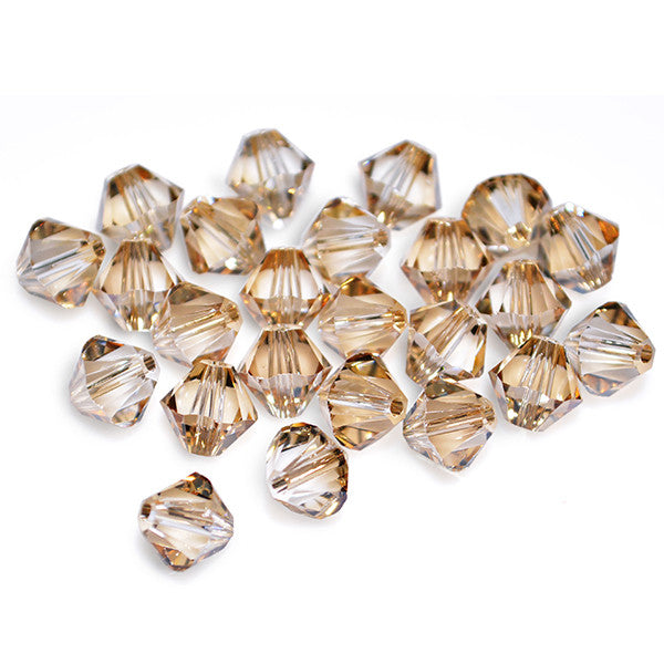 5301 / 5328-4-cr-gs Swarovski Crystal 4mm Bicone Crystal Golden Shadow Beads (Package of 48 Beads)