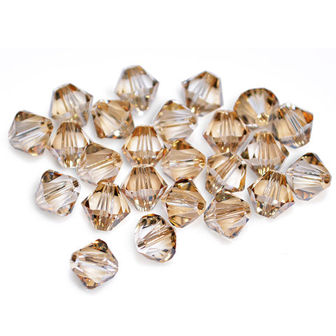 5301 / 5328-6-cr-gs Swarovski Crystal 6mm Bicone Crystal Golden Shadow Beads (Package of 24 Beads)