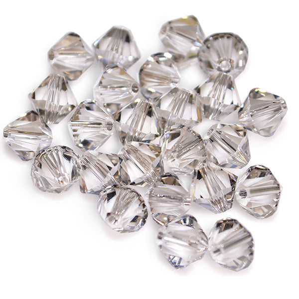 5301 / 5328-6-cr-ssh Swarovski Crystal 6mm Bicone Crystal Silver Shade Beads (Package of 24 Beads)