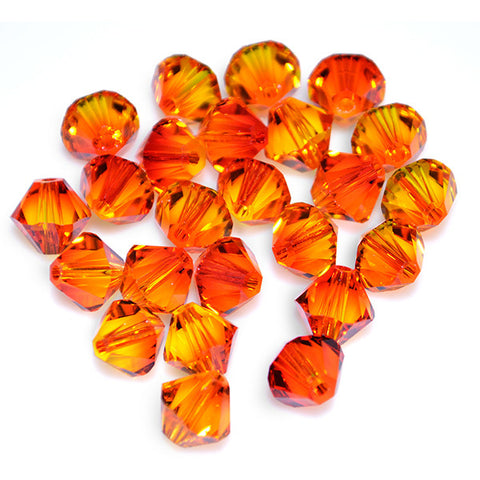 5301 / 5328-4-fo Swarovski Crystal 4mm Bicone Fireopal Beads (Package of 48 Beads)