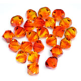 5301 / 5328-6-fo Swarovski Crystal 6mm Bicone Fireopal Beads (Package of 24 Beads)