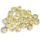 5301 / 5328-6-jo Swarovski Crystal 6mm Bicone Jonquil Beads (Package of 24 Beads)