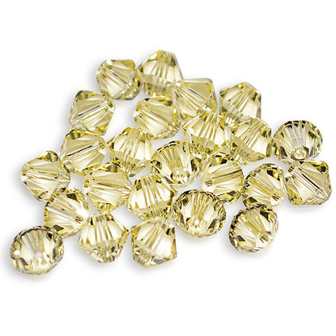 5301 / 5328-4-jo Swarovski Crystal 4mm Bicone Jonquil Beads (Package of 48 Beads)