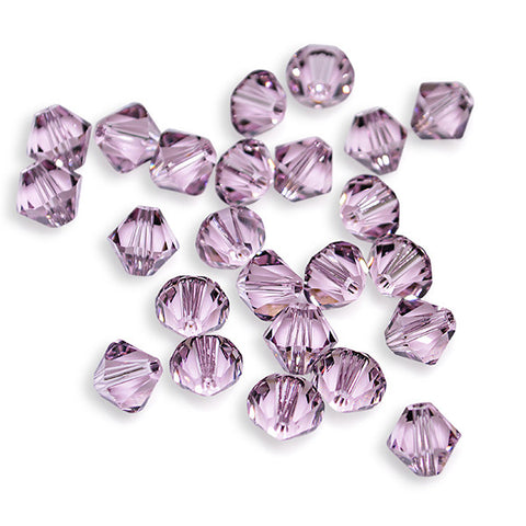 5301 / 5328-4-aml Swarovski Crystal 4mm Bicone Light Amethyst Beads (Package of 48 Beads)