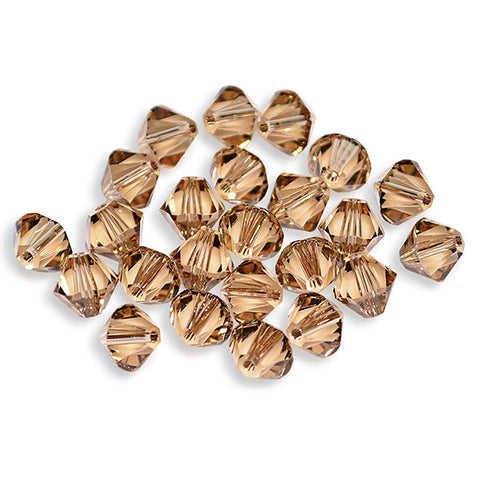 5301 / 5328-8-lct Swarovski Crystal 8mm Bicone Light Colorado Topaz Beads (Package of 12 Beads)
