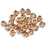 5301 / 5328-6-lct Swarovski Crystal 6mm Bicone Light Colorado Topaz Beads (Package of 24 Beads)