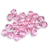 5301 / 5328-6-rol Swarovski Crystal 6mm Bicone Light Rose Beads (Package of 24 Beads)