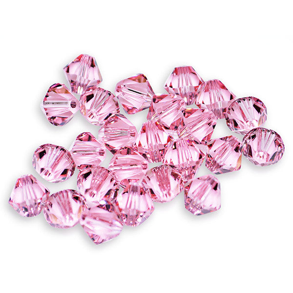 5301 / 5328-4-rol Swarovski Crystal 4mm Light Rose Bicone Beads (Package of 48 Beads)